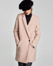 Manteau rose Zara